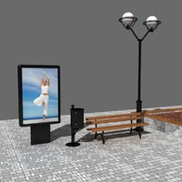 3d model street elements