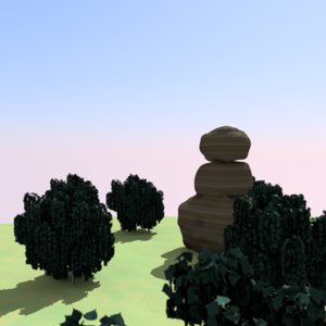 3ds sandstone rock
