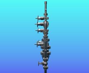 3d model oil valves