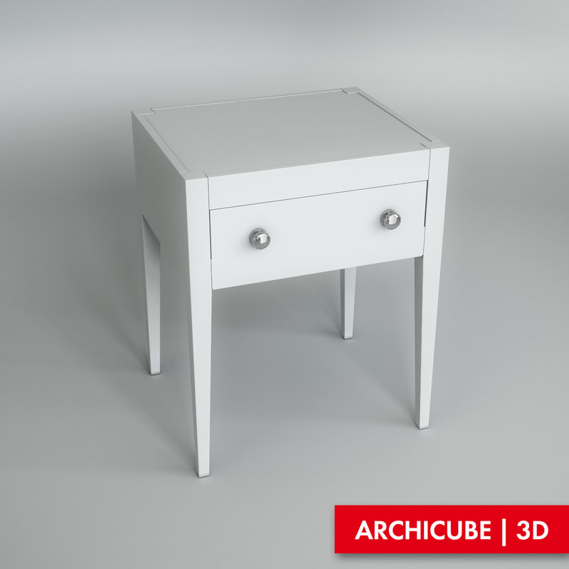 bedside table 3d max