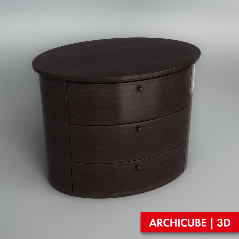 3d max bedside table