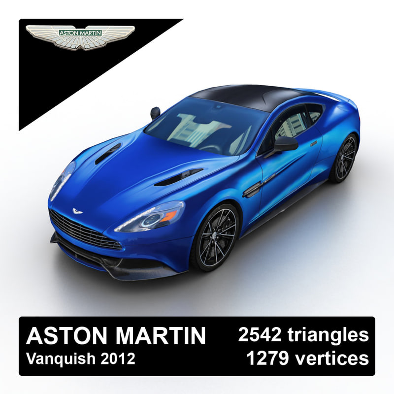 2012 aston martin vanquish 3d model