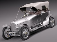 3d car classic antique austro model