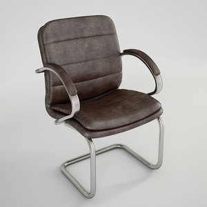 chair leather scenes obj