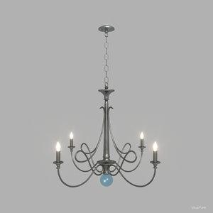 3ds double twist chandelier