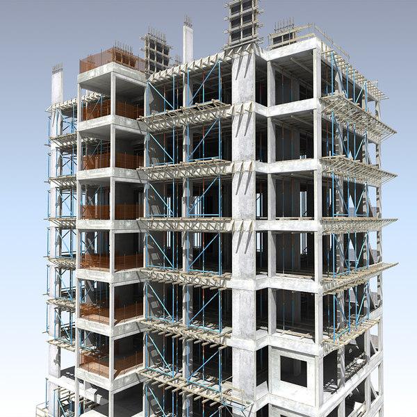 building construction 3d max