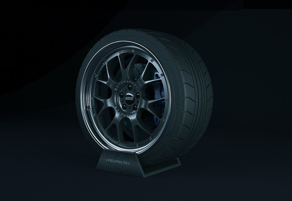 bbs motorsport wheel 3d model