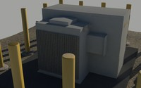 max outdoor electrical substation pillars
