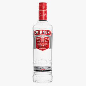 smirnoff vodka bottle 3ds