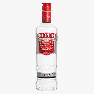 smirnoff vodka bottle 3ds