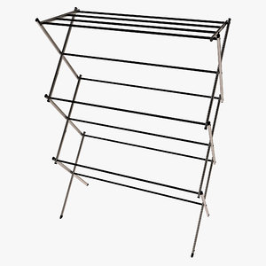 3ds max folding drying rack