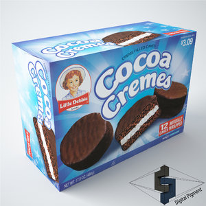 3d model little debbie cocoa cremes