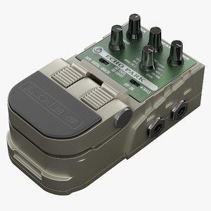 guitar effects pedal line 3d model