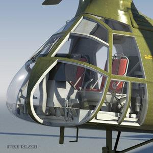 piasecki h-21c 3d model
