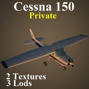 3d cessna 150 private pvt model