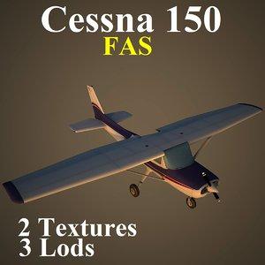 3d model of cessna 150 fas