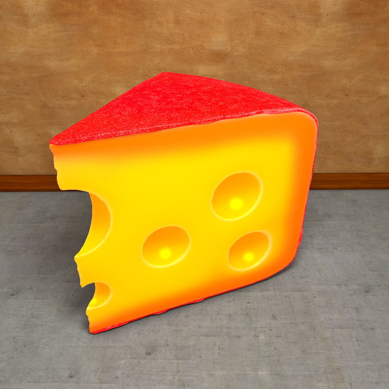 3d model piece cheese