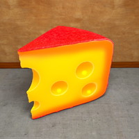 Cheese very detailed Piece of