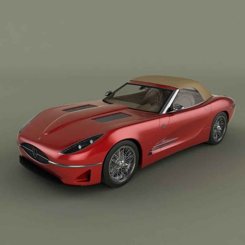 3d model lyonheart k convertible