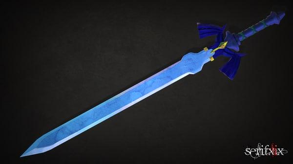 3d model of master sword