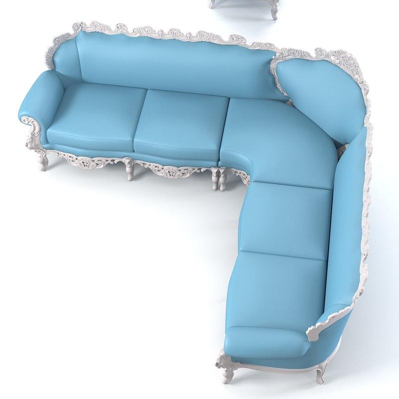 3ds max modense gastone sofa