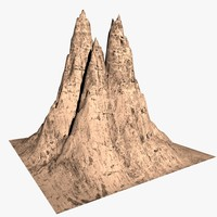 3ds max desert rock