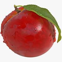 3d model of peach 2