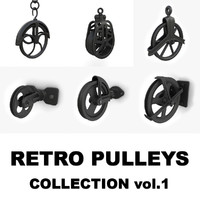 3d model retro pulley s vol 1