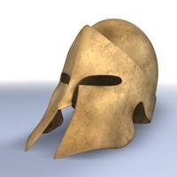 spartan helmet bronze 3d c4d