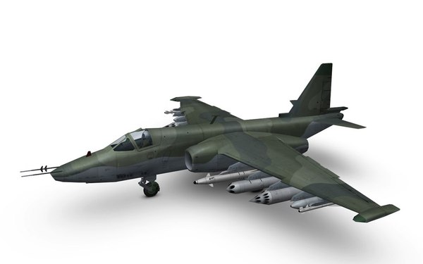su-25 frogfoot low-poly format 3ds