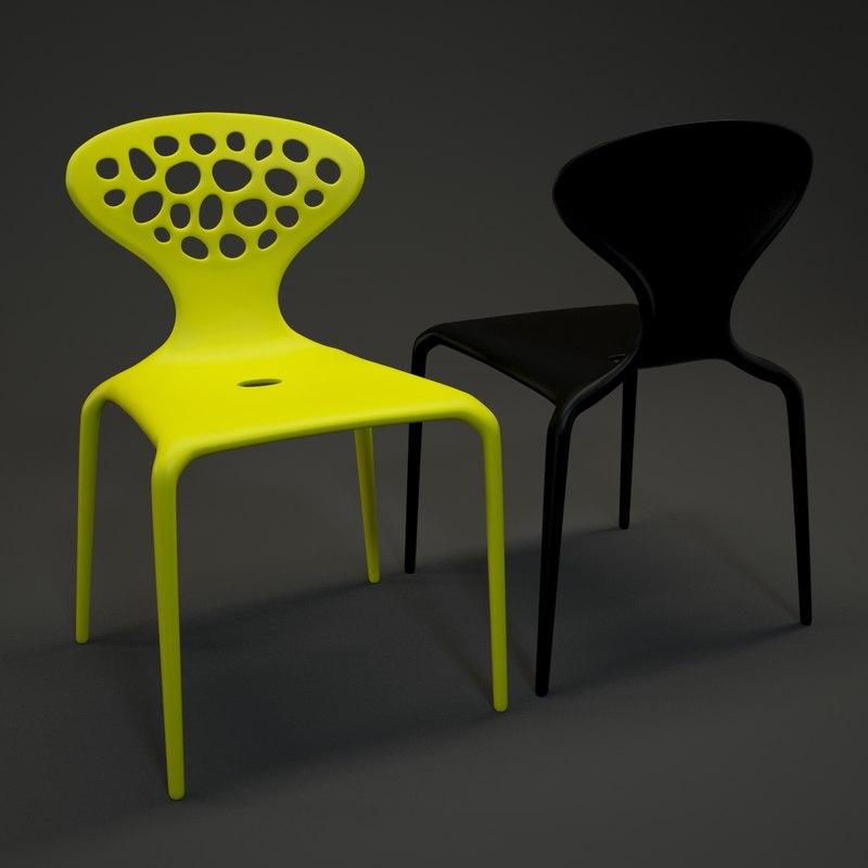 3d model moroso supernatural chair