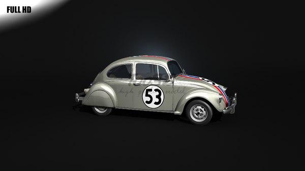 beetle herbie 3d model