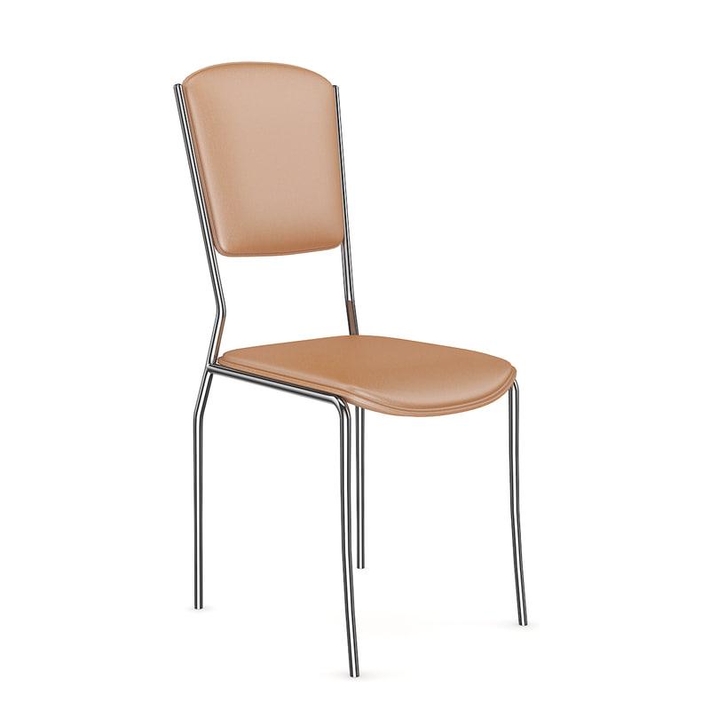 obj orange leather chair