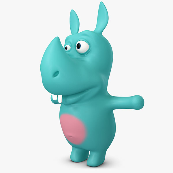 rhino cute cartoonish 3ds