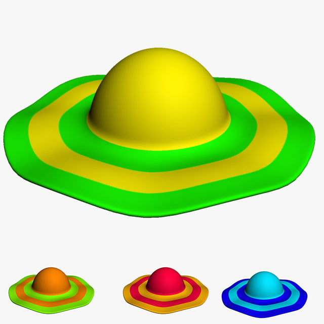 lady hat 3d model