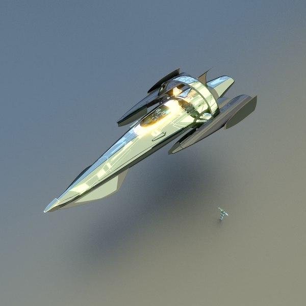 space cruiser 3d model