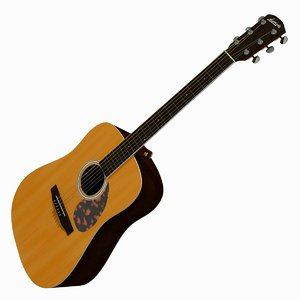 3d model acoustic guitar larrivee