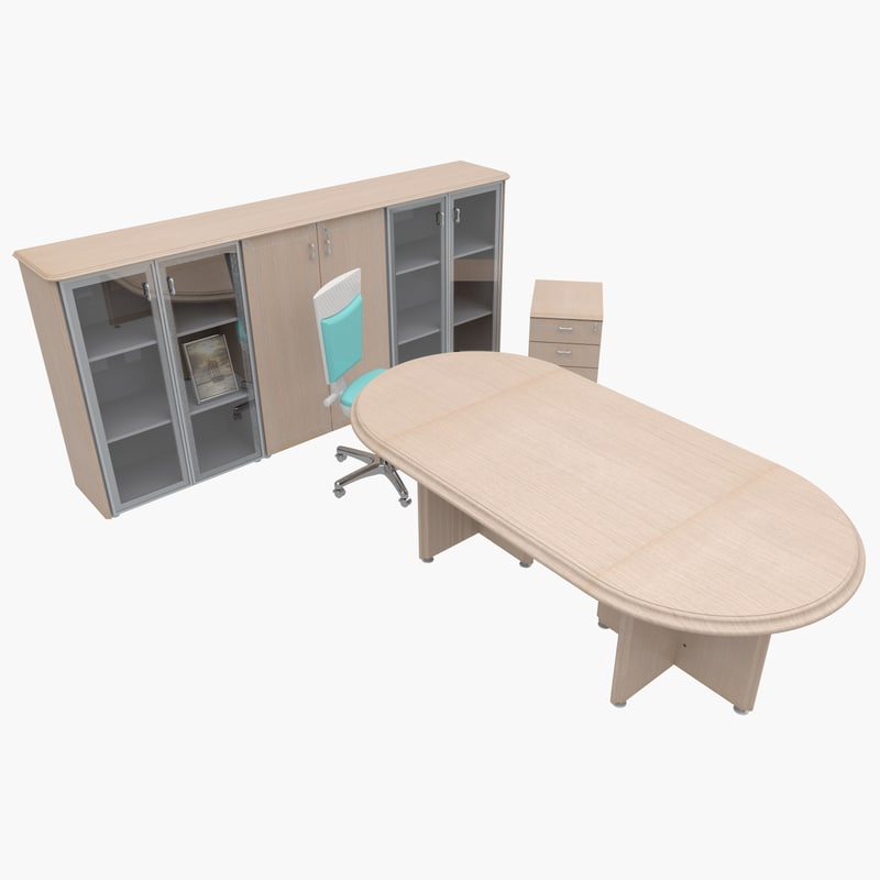 3d model of office furniture