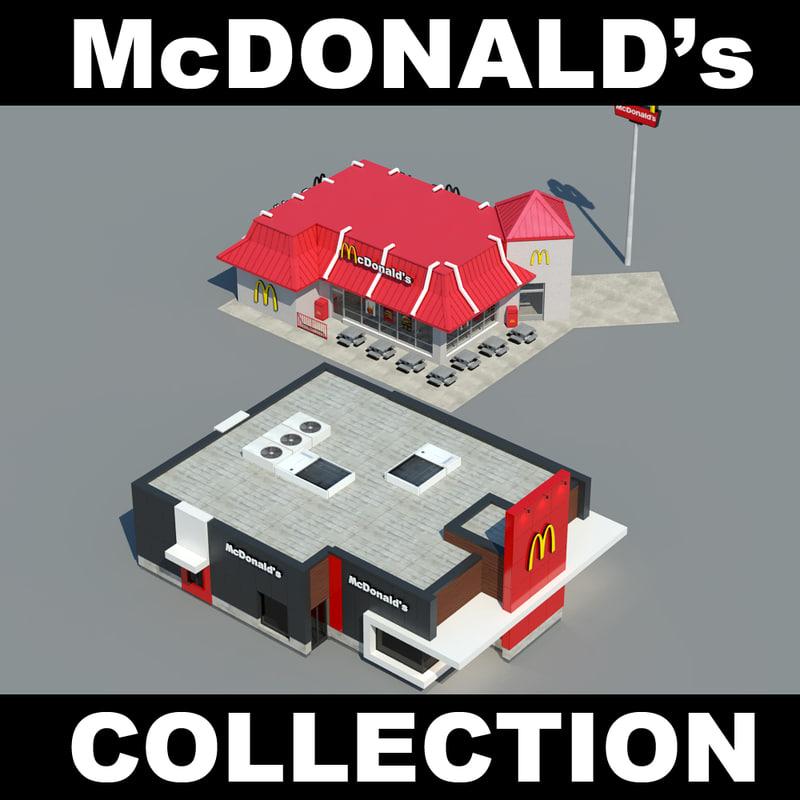3d mcdonalds mc