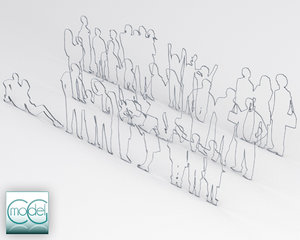 3d 3ds silhouette people