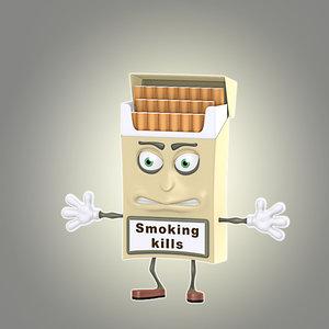 cool cartoon cigarette pack 3d lwo
