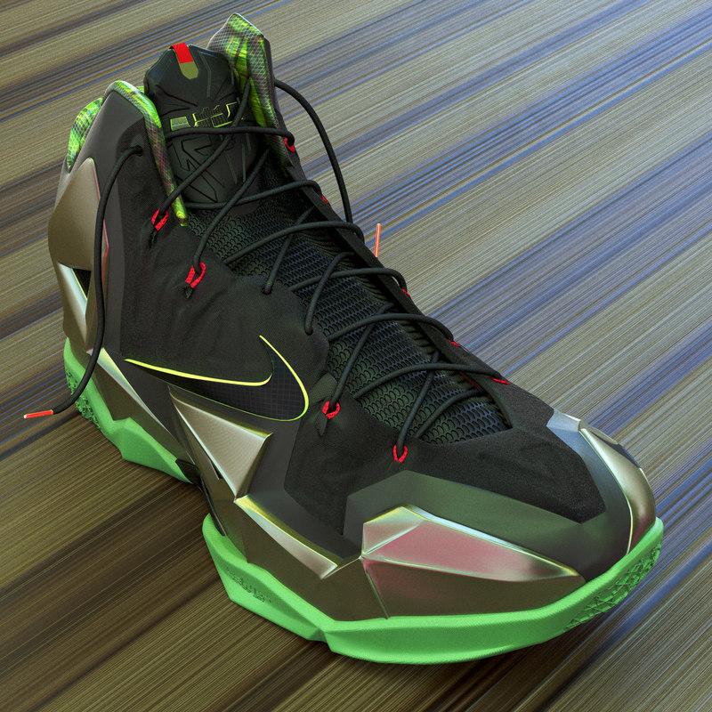 3d nike lebron xi basketball shoe