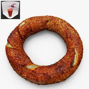 3d turkish bagel simit