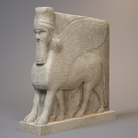 statue lamassu bull