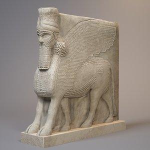 statue lamassu bull 3ds