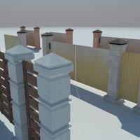 fences 3d model