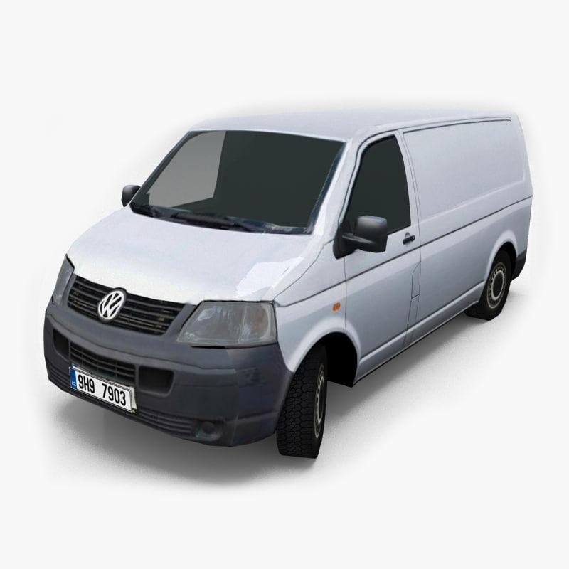 3d vehicle volkswagen transporter t5