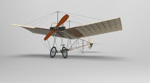 3d demoiselle aircraft model