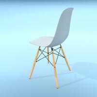 vitra eames plastic chair obj
