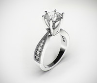 3d classic female wedding ring model